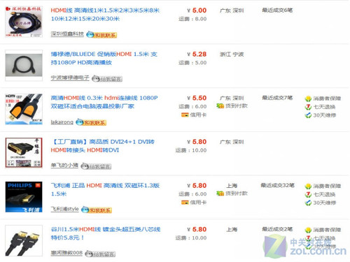 ZOL高清大讲堂 HDMI线差价悬殊为哪般?