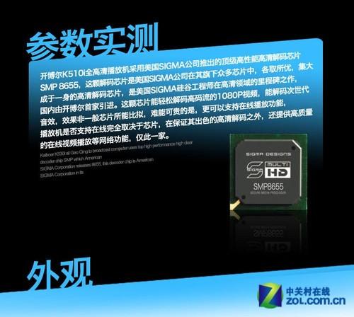 SIGMA8655精致做工 开博尔K510i评测